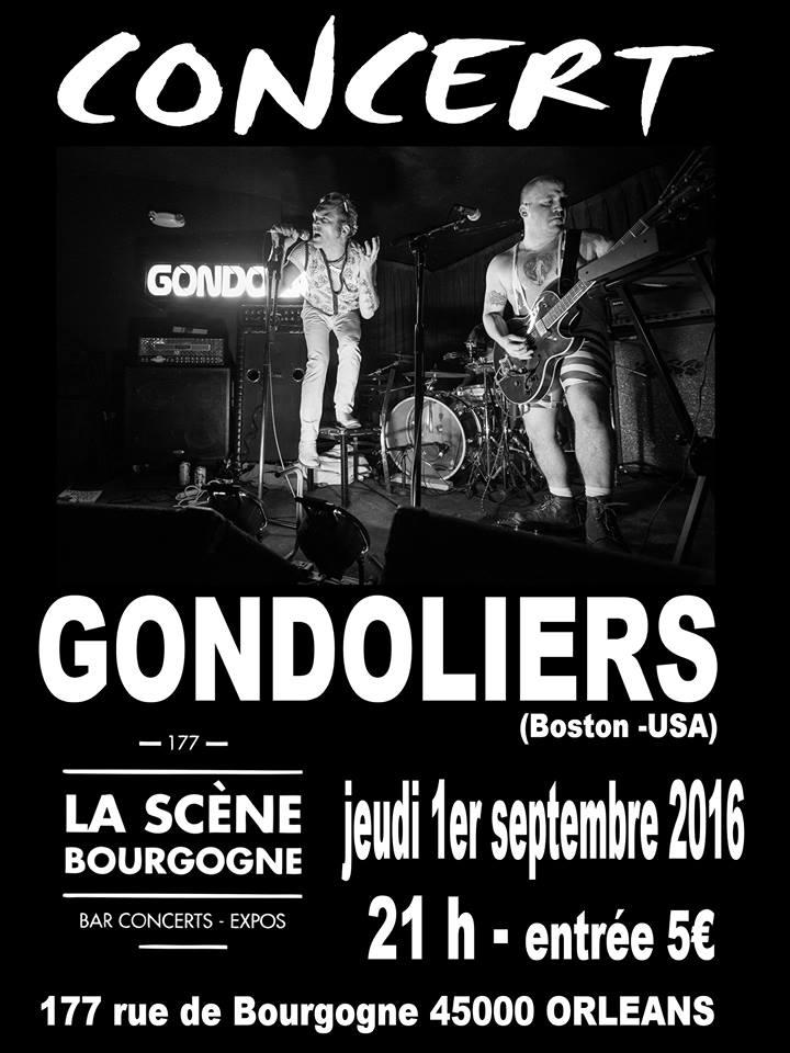 """1er septembre 2016 Gondoliers à Orléans """"La Scène Bourgogne"""""""