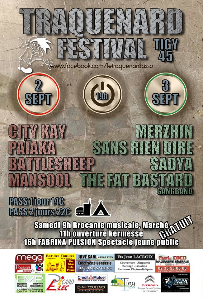 2 septembre 2016 City Kay, Païaka, Battlesheep, Mansool à Tigy