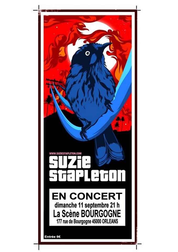 """Dimanche 11 septembre 2016 Suzie Stapleton à Orléans """"la Scène Bourgogne"""""""