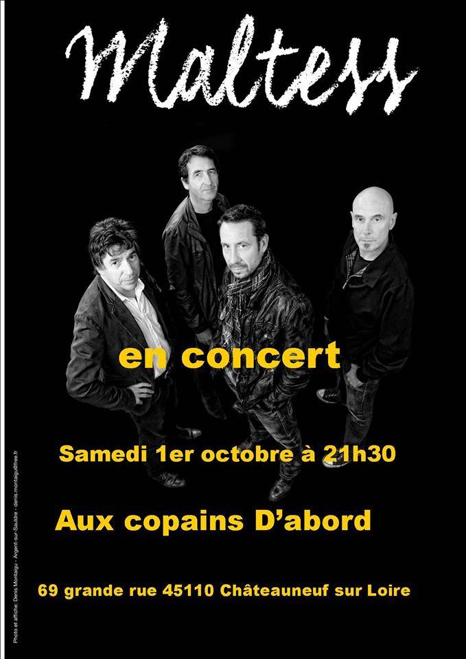 """1er octobre 2016 Maltess à Chateauneuf Sur Loire """"Aux Copains d'Abord"""""""