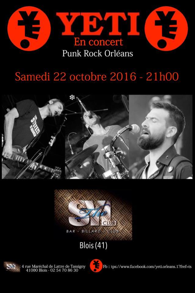 """22 octobre 2016 Yeti à Blois """"Syl Club"""""""