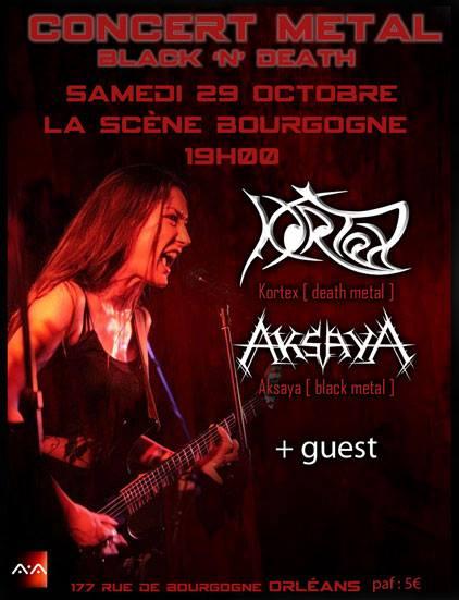 "29 Octobre 2016 Kortex, Aksaya, Slave One à Orléans ""La Scène Bourgogne"""