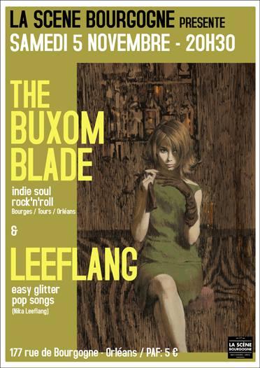 """5 novembre 2016 The Buxom Blade, Leeflang à Orléans """"La Scene Bourgogne"""""""