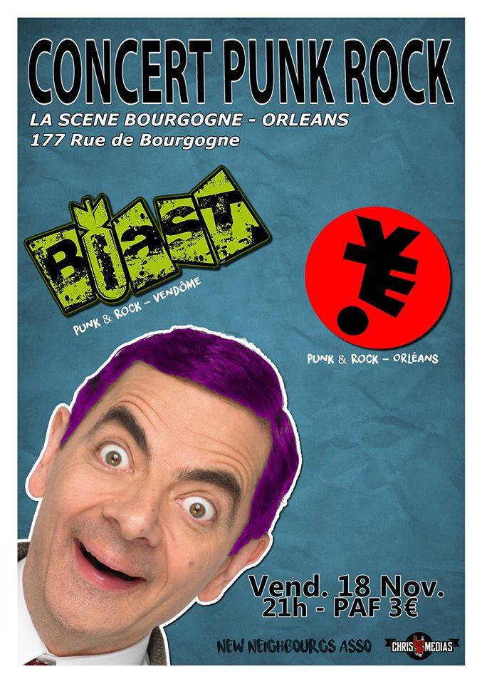 "18 novembre 2016 Yeti, Blast à Orléans ""La Scene Bourgogne"""