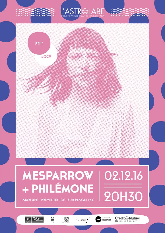 """2 decembre 2016 Philémone, Mesparrow à Orléans """"Astrolabe"""""""