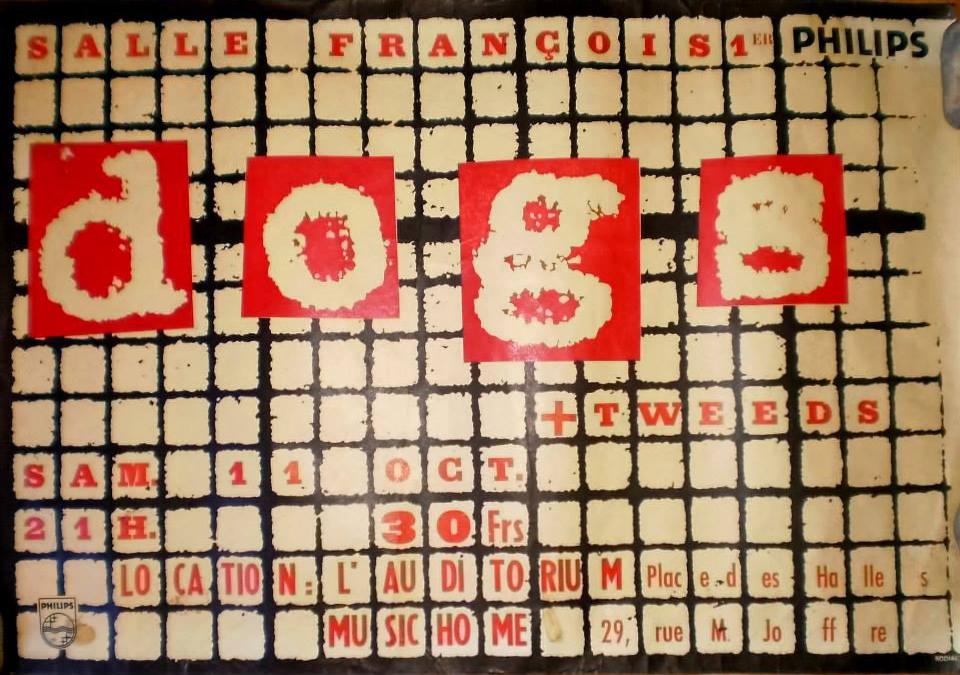 """11 octobre 1980 Dogs, Tweed au Havre """"Salle François 1er"""""""
