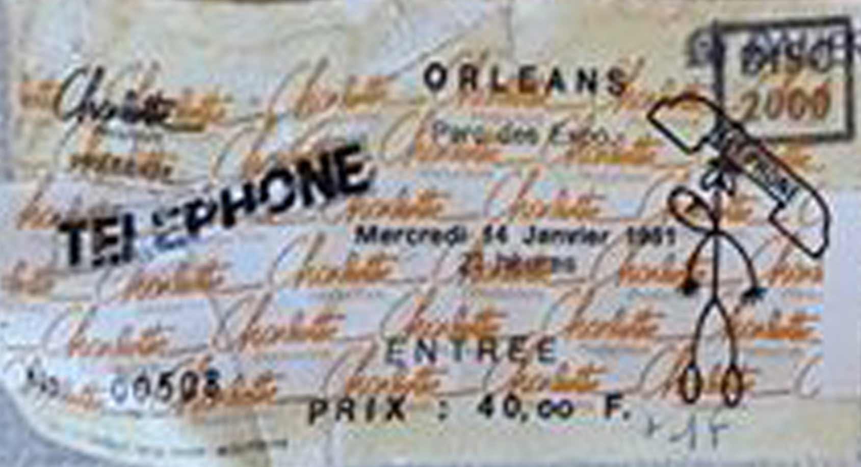 """14 janvier 1981 Telephone à Orléans """"Parc des Expositions"""""""