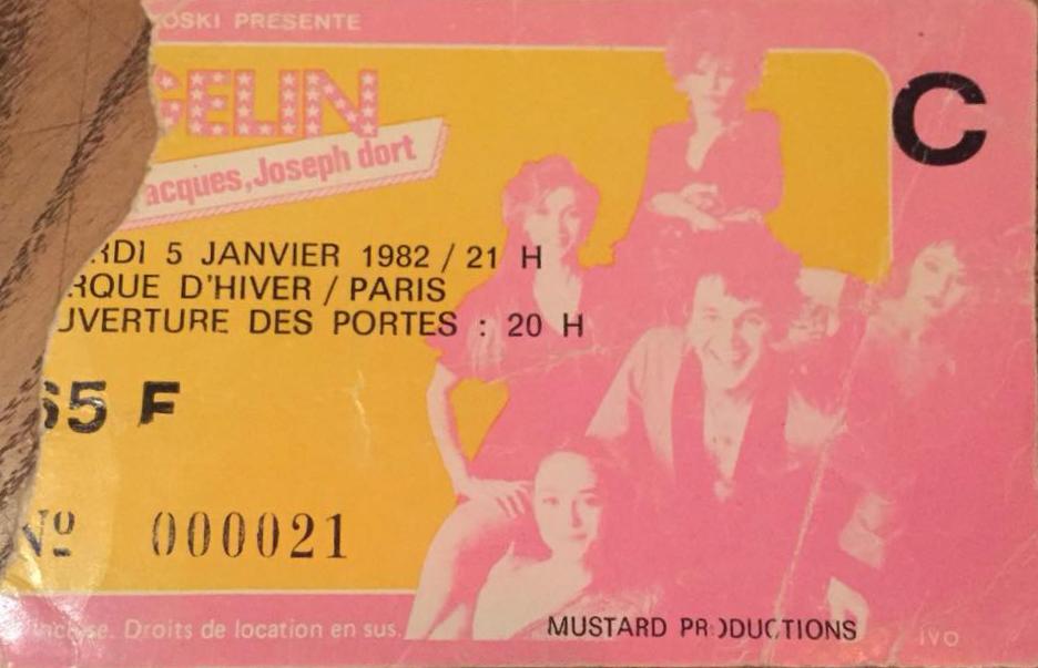 """5 janvier 1982 Jacques Higelin à Paris """"Cirque d'Hiver"""""""