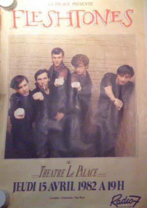 """15 avril 1982 Les Dogs, Fleshtones à Paris """"le Palace"""""""