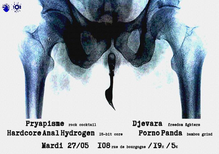 "27 mai 2014 Pryapisme, Djevara, Hardcore Anal Hydrogen, Porno Panda à Orléans ""le 108"""