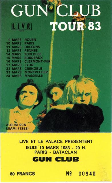 """10 mars 1983 Les Nus, Gun Club à Paris """"le Bataclan"""""""
