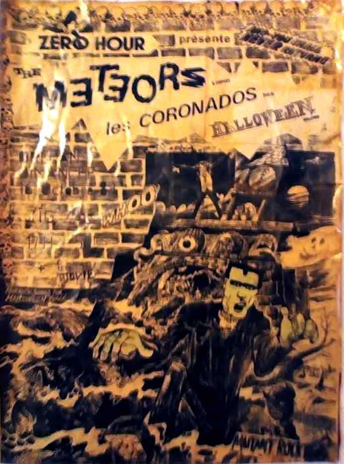 """Octobre 1983 Halloween, Coronados, Meteors à Olivet """"le Zig Zag"""""""