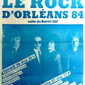 """26 mai 1984. Bebop, Skunx Offensive, Phil Trip, De Luxe, Steel Warriors, European tragique à Orléans """"Salle du Baron"""""""