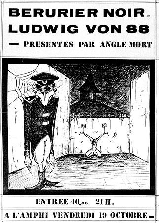 """19 octobre 1984 Ludwig Von 88, Berurier Noir à Tours """"l'Amphi"""""""