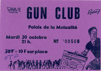 """30 Octobre 1984 La Souris Déglinguée, Gun Club à Paris """"la Mutualité"""""""