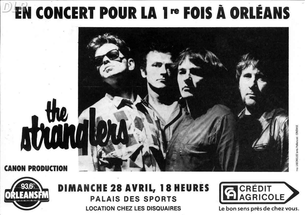 "28 avril 1985 The Stranglers à Orléans ""Palais des Sports"""