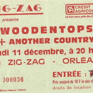 "11 Décembre 1986 Another Country, Woodentops à Olivet ""Le Zig zag"""