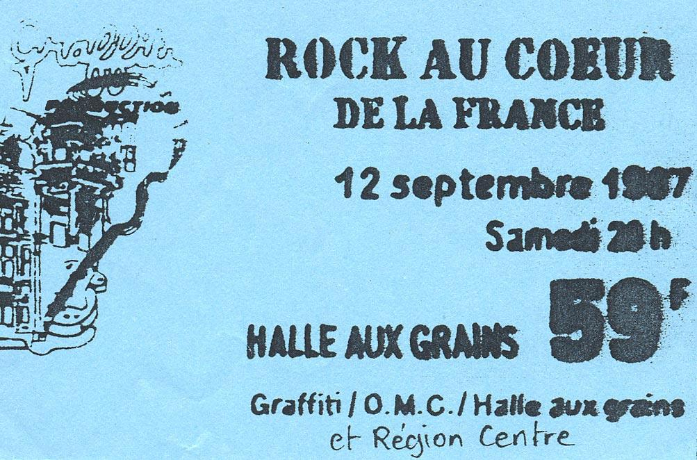 12 septembre 1987 Kidnap, Charles De Goal, La Souris Déglinguée, Cyclope à Blois