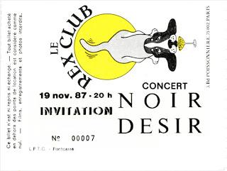 """19 novembre 1987 Noir Desir à Paris """"le Rex Club"""""""