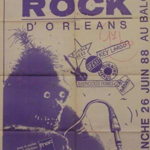 """26 Juin 1988 Suspicous Mind, Up Shot, Key Largo, Bumble Bees, Cry Babies, Burning Heads à Orléans """"le Balcon"""""""