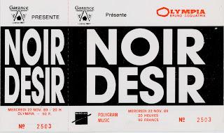 """22 novembre 1989 Noir Desir à Paris """"l'Olympia"""""""