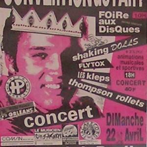 """22 avril 1990 Flytox, Shaking Dolls, les Kleps, Thompson Rollets à Saint Jean de la Ruelle """"Salle des Fêtes"""""""