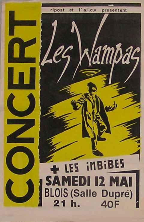 """12 mai 1990 les imbibés, les Wampas à Vienne """"Salle Dupré"""""""