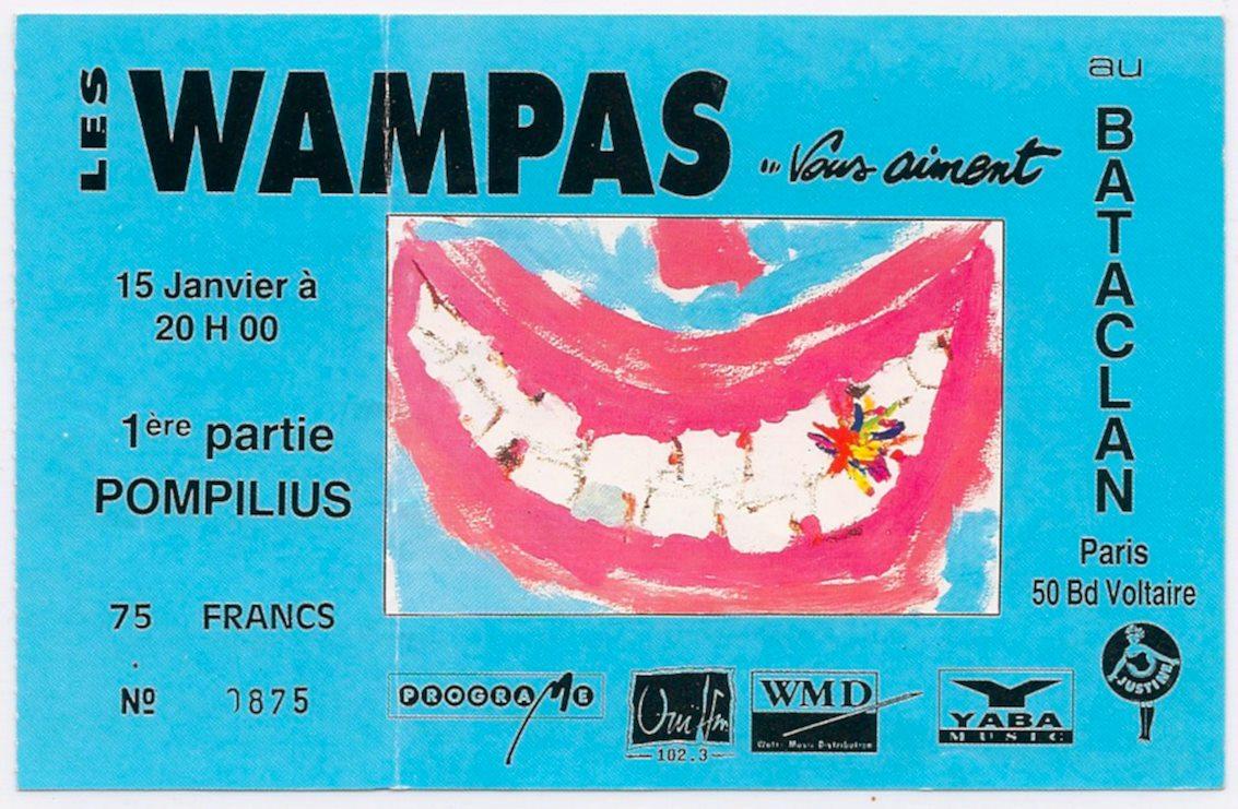 """15 janvier 1991 Pompilius, les Wampas à Paris """"le Bataclan"""""""