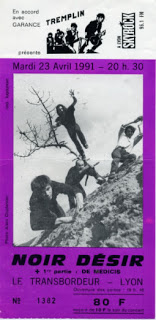 """23 avril 1991 Noir Desir, De Medicis à Villeurbanne """"le Transbordeur"""""""