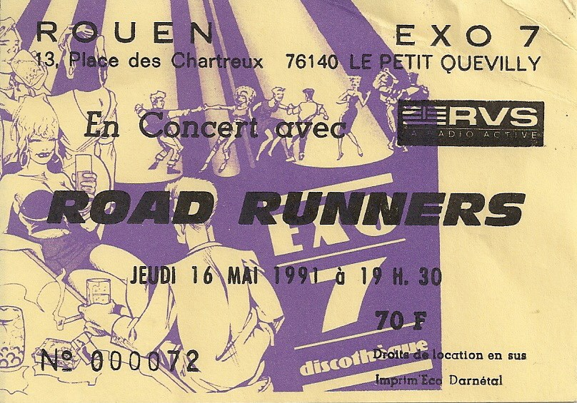"""16 mai 1991 Roadrunners, Rosemary's Babies à Petit Quevilly """"Exo 7"""""""