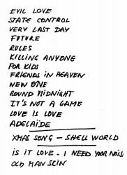 1991_05_31_Setlist