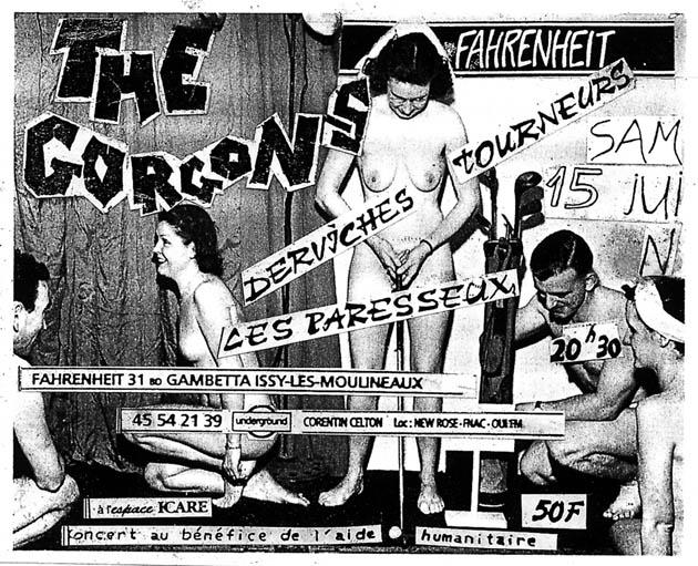 """15 juin 1991 Les Paresseux, Les Gorgons, Derviches Tourneur à Issy les Moulineaux """"le Farenheit"""""""