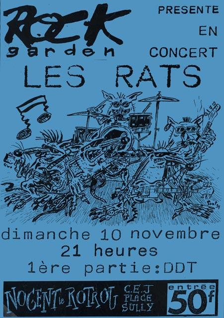 "10 novembre 1991 DDT, les Rats à Nogent le Rotrou ""CEJ"""