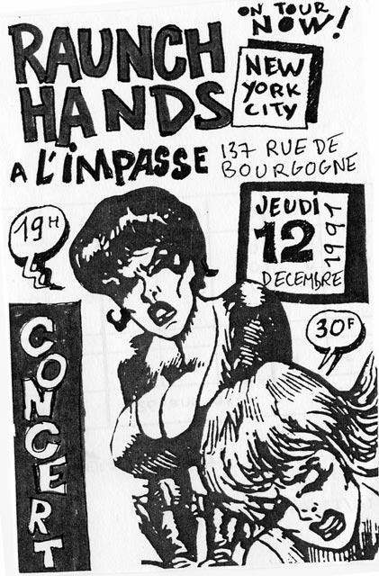 """12 décembre 1991 Raunch Hands à Orléans """"l'impasse"""""""