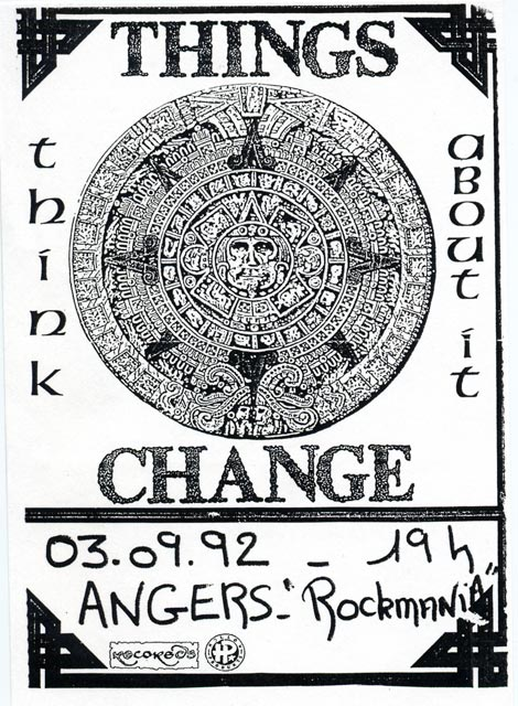 "3 septembre 1992 Things Change à Angers ""Rockmania"""