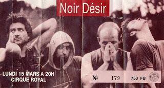 """15 Mars 1993 Noir Desir à Bruxelles """"Cirque Royal"""""""