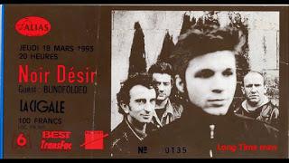 """18 mars 1993 Noir Desir, Blindfolded à Paris """"la Cigale"""""""