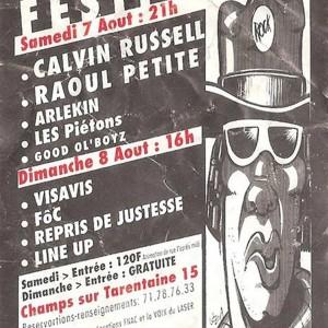 7 Aout 1993 Good Old Boyz, Les piétons, Arlekin, Raoul Petite, Calvin Russell à Champs sur Tarentaine