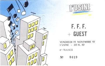"""19 novembre 1993 FFF à Reims """"l'Usine"""""""