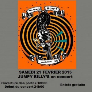 "21 février 2015 Jumpy Billy's à Amilly ""L'atelier pub evenementiel"""
