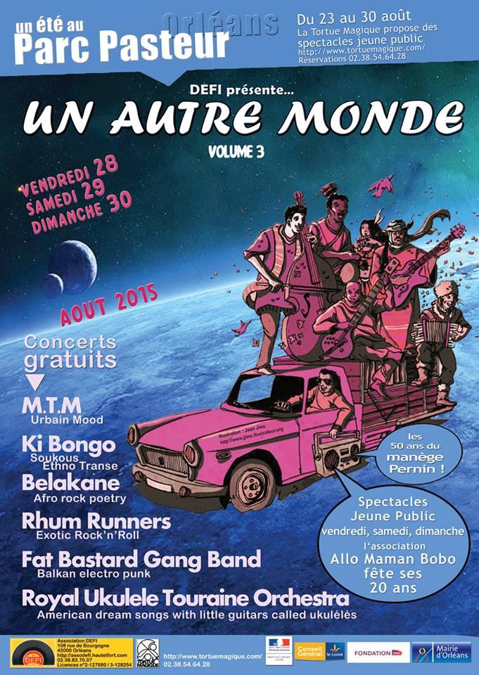 """29 aout 2015 Belakane M.T.M, Fat Bastard Gang Band à Orléans """"Parc Pasteur"""""""