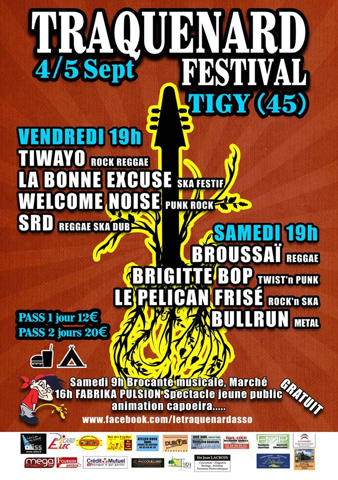 4 septembre 2015 Tiwayo, La Bonne Excuse, Welcome Noise, SRD à Tigy