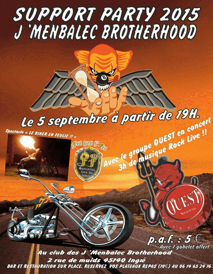 """5 septembre 2015 Ouest à Ingré """"Club J'menbalec"""""""