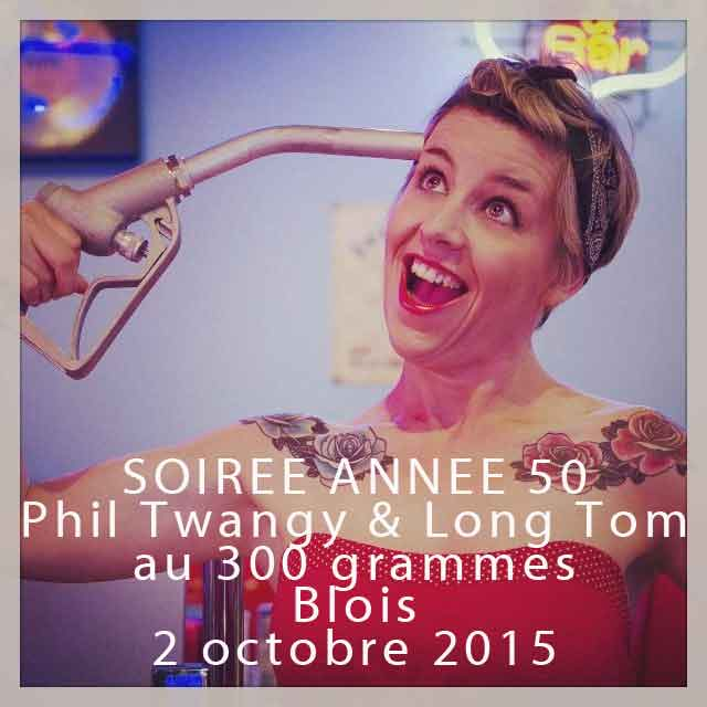 "2 octobre 2015 Phil Twangy et Long Tom à Blois ""300 grammes"""