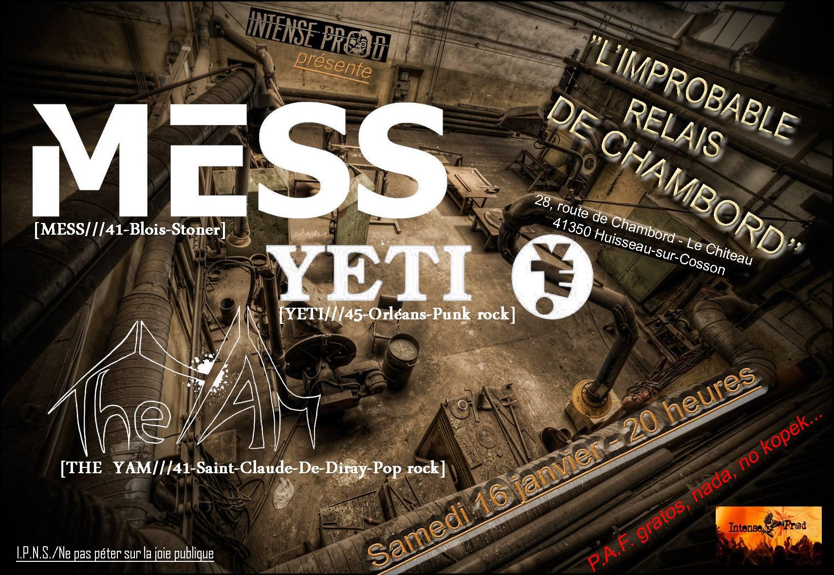 """16 janvier 2016 The Yam, Yeti, Mess à Huisson sur Cosson L'improbable """"Relais de Chambord"""""""