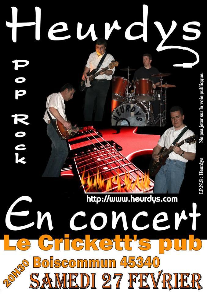 "27 fevrier 2016 Heurdys à Boiscommun ""Crickett's pub"""