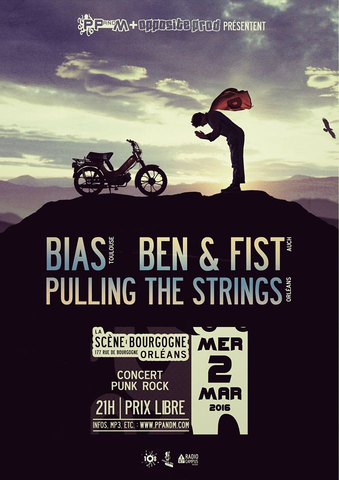 "2 mars 2016 Pulling the Strings, Ben & Fist, Bias à Orléans ""La Scène Bourgogne"""