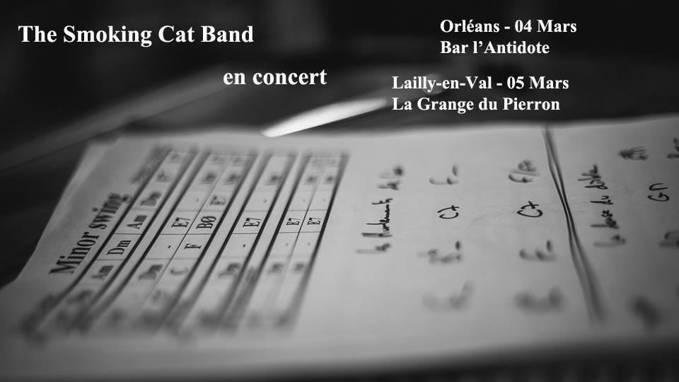 "5 Mars 2016 The Smoking Cat Band à Lailly En Val ""La Grange du Pierron"""