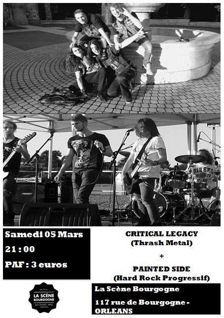 """5 mars 2016 Critical Legacy, Painted Side à Orléans """"La Scene Bourgogne"""""""
