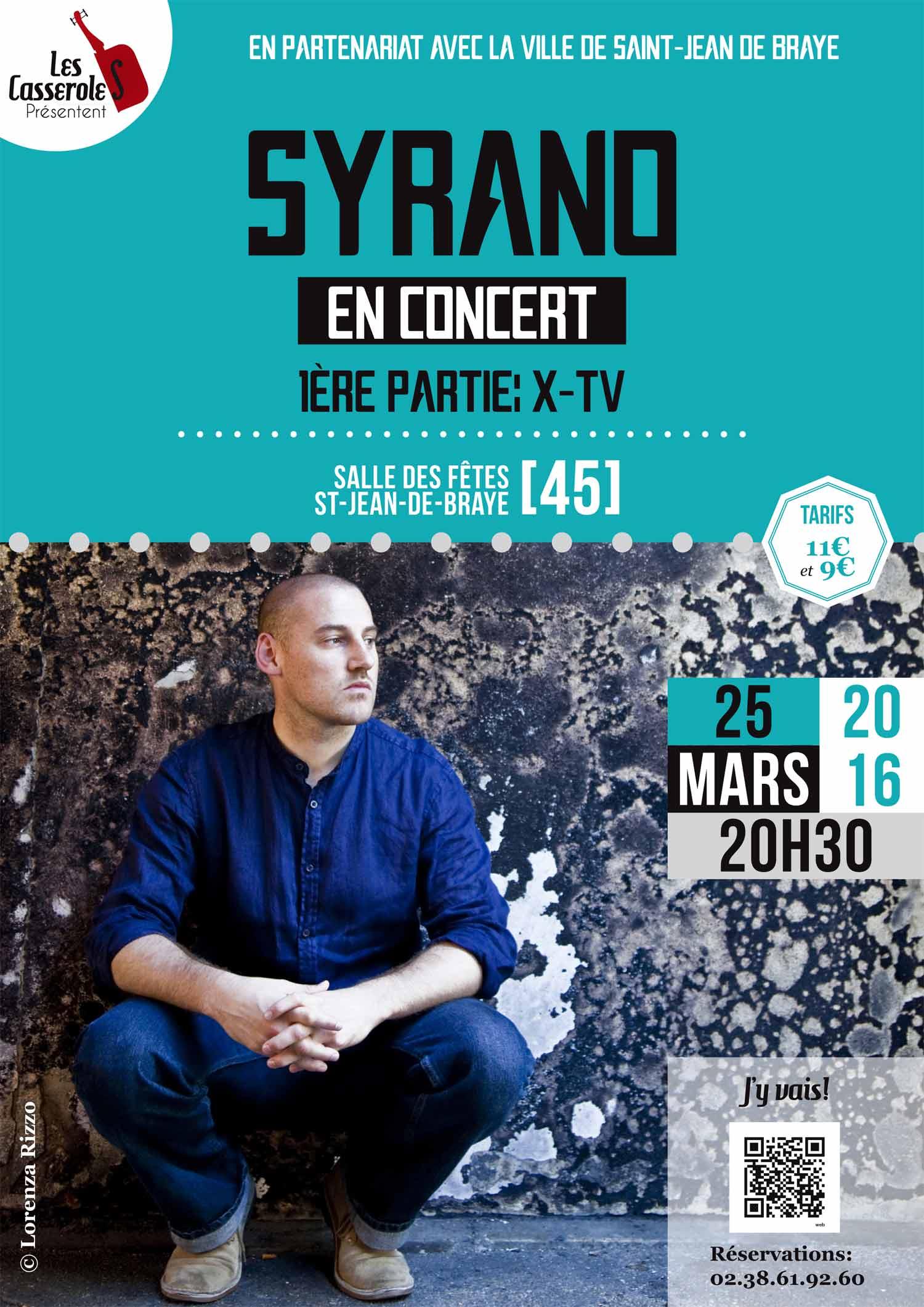 """25 mars 2016 X-TV, Syrano à Saint Jean de Braye """"Salle des Fêtes"""""""